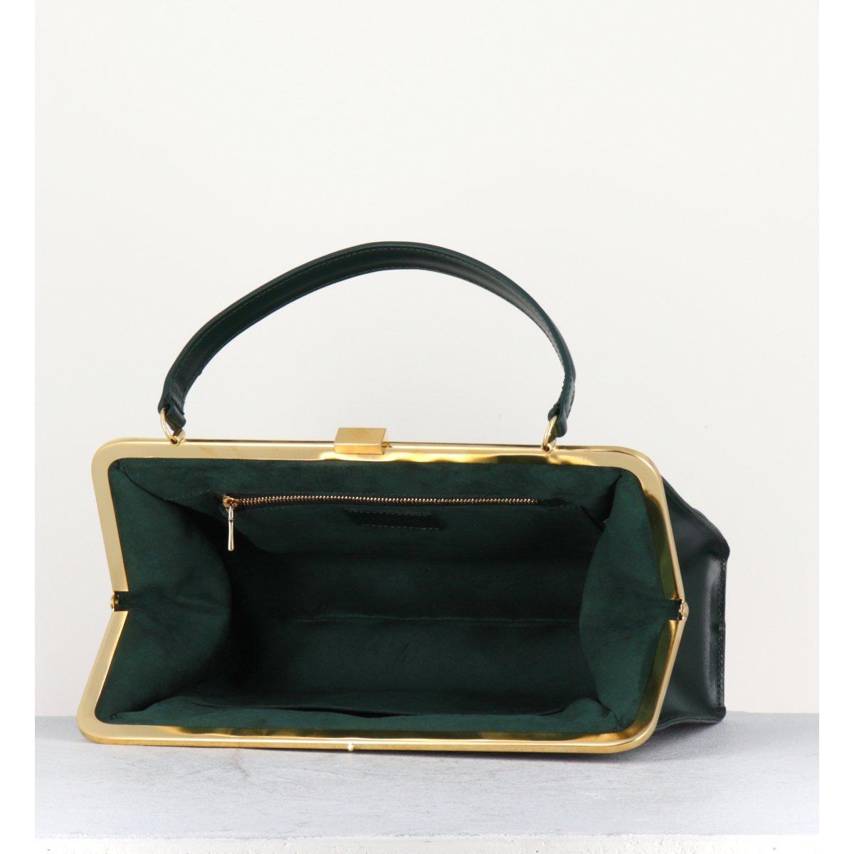 GREEN CLASP BAG