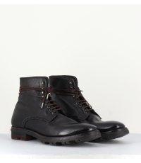 Boots en cuir marron pour homme SCOTT03- Open Closed