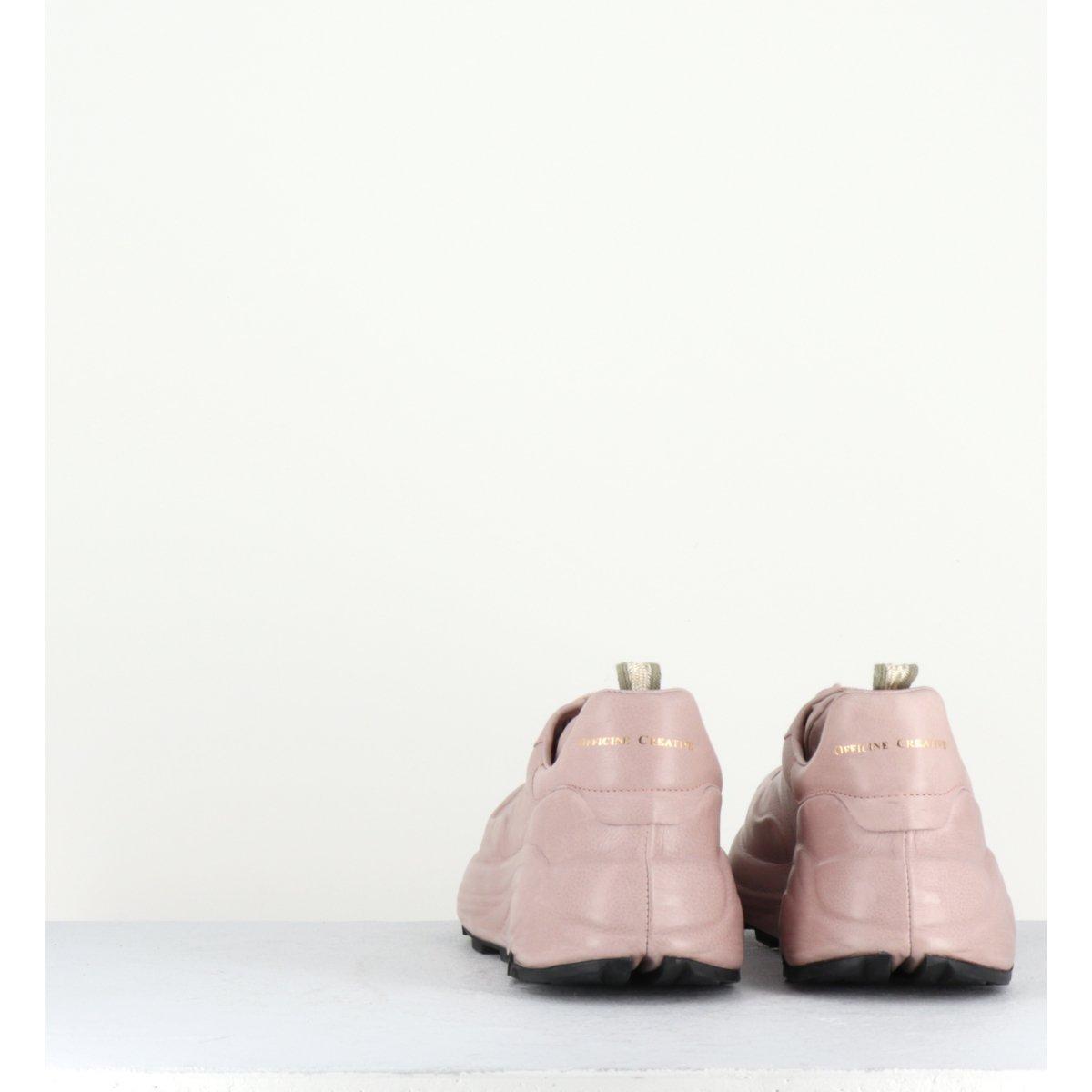 Baskets à semelles épaisses en cuir rose nude Officine Creative - SPHYKE 101R