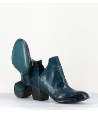 Bottines en cuir bleu Lemargo - AH16A BLEU
