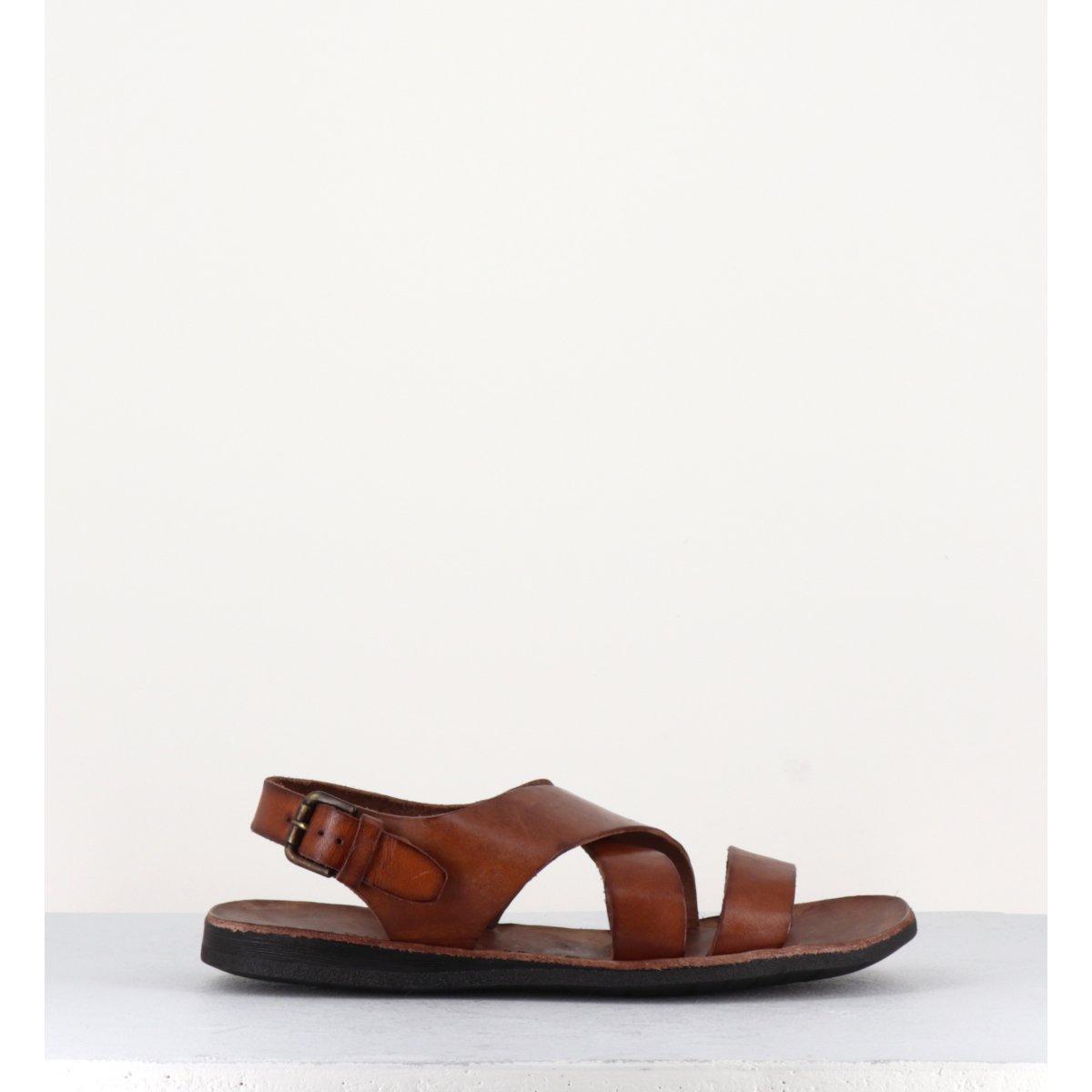 Sandales en cuir camel pour hommes Brador Shoes - CLOSE 46518