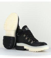 Bottines  en cuir noir Beyond shoes pour hommes - POLDIE