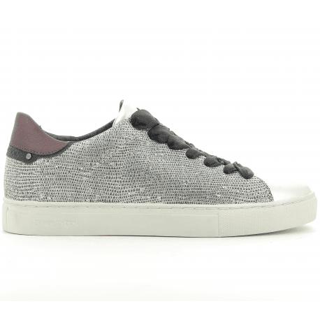 Sneakers en cuir platine BEAT 25103 - Crime London