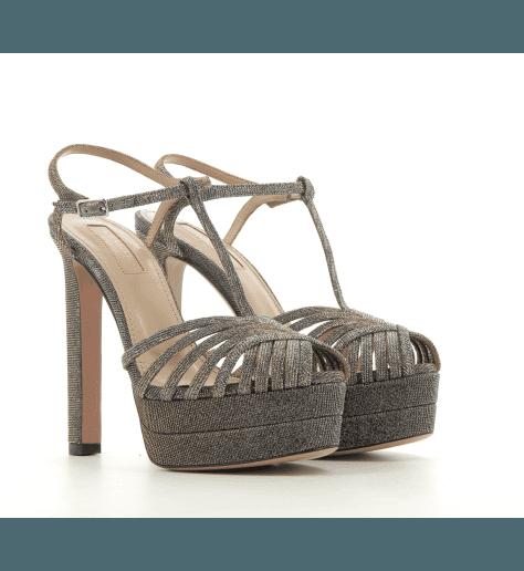 Sandales à talon haut et plateforme Aquazzura - MOONLIGHT PLATEAU 130