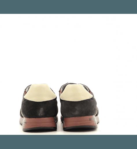 Sneakers homme en croûte et textil noir ERIC3288- Premiata