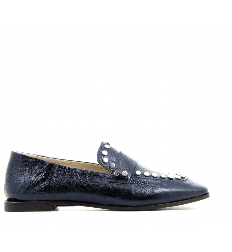 Mocassins en cuir bleu 5307 - Garrice collection