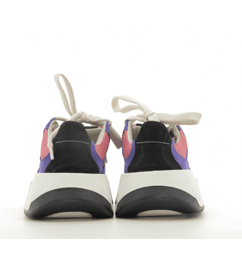 Sneakers basses en cuir violet à semelles épaisses S40WS0115/H7435 - MM6 Martin Margiela