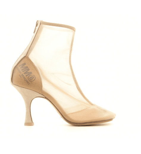 Bottines en resille nude S40WU0175/T2207 - MM6 Martin Margiela
