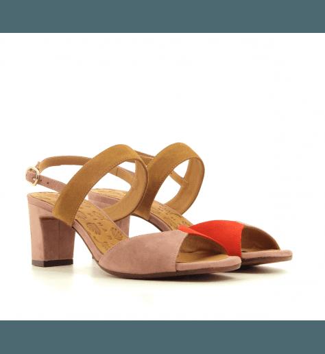 Sandales à talons en veau velours bleu Chie Mihara -LUZULA