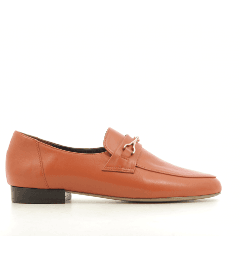 Mocassins en cuir orange DANY N2O - Avril Gau