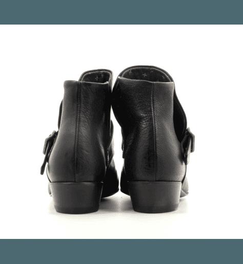 Bottines plates en cuir noir Fiorentini Baker - FLOID-9N