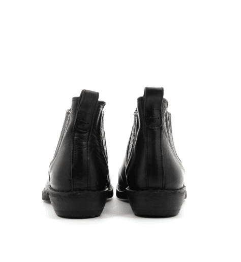 Bottines / boots plates en cuir noir Fiorentini Baker - CARIS BLACK