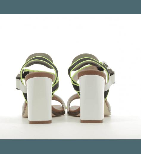 Sandales en sequin jaune fluo Alberto Gozzi - DEIDRA-268