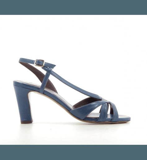 Sandales à talons en cuir bleu Avril Gau - TOP N2