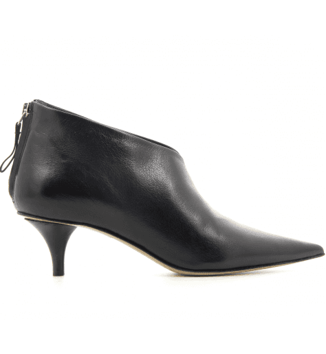 Bottines courtes pointues en cuir noir Premiata - M5333