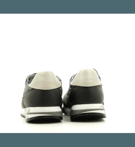 Baskets en cuir et textile khaki PREMIATA pour hommes - ERIC 3817