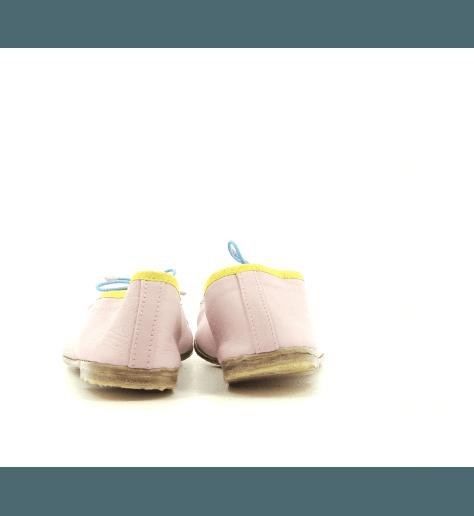 Ballerines  en cuir rose Meher Kakalia - BIZI BALLET FLOCK PINK