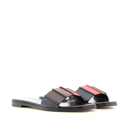 Sandales en cuir multicolore SAFIA BLACK - Ps by Paul Smith