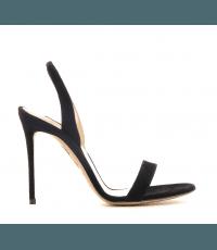 Sandales à talons aiguille en cuir verni noir  Aquazzura - SO NUDE SANDAL105