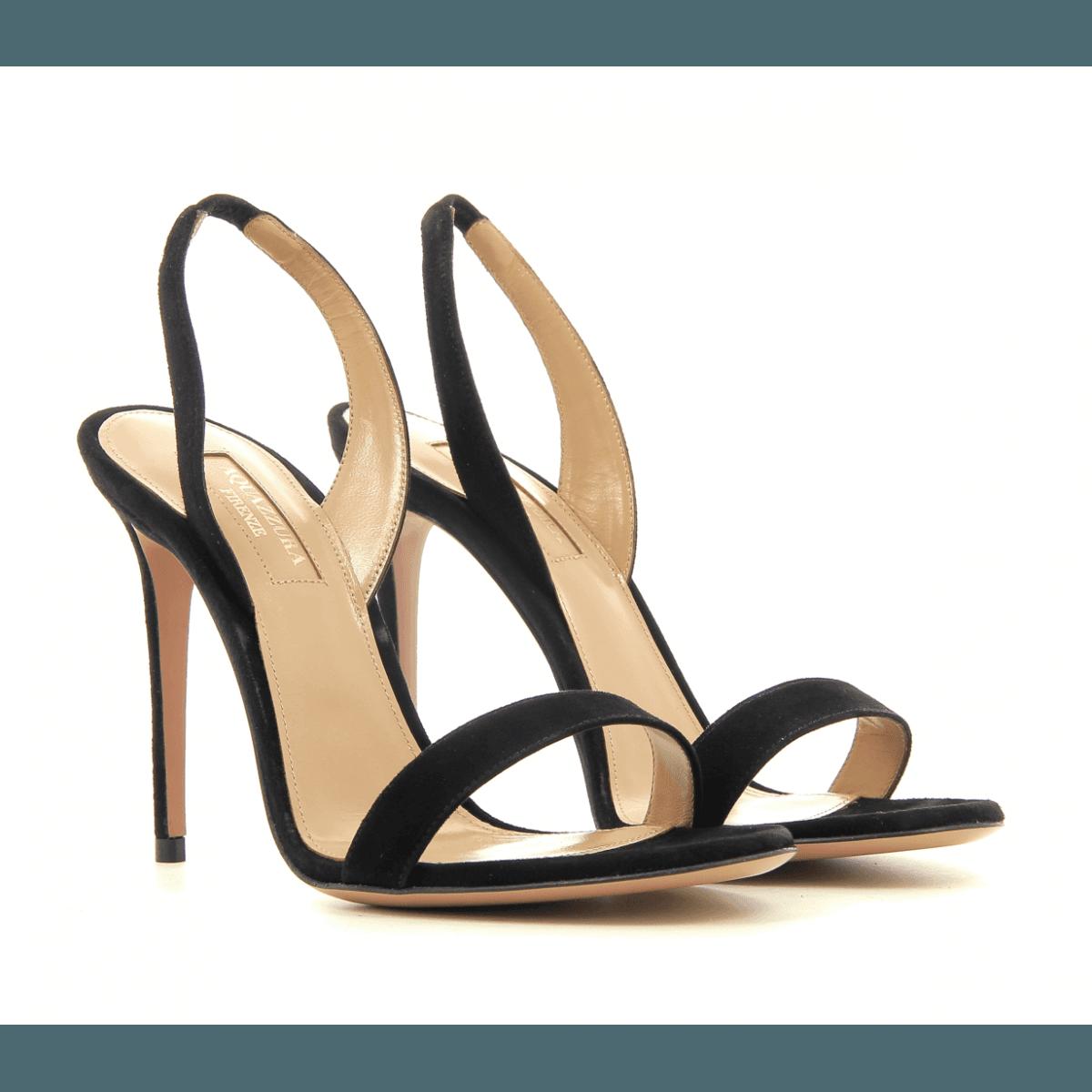 Sandales à talons aiguille en cuir noir  Aquazzura - SO NUDE SANDAL105