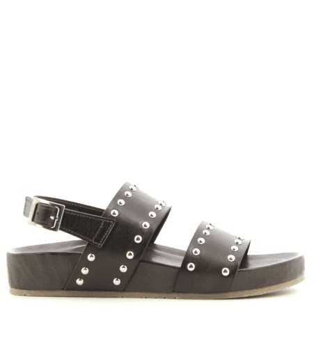 Sandales en cuir marron ITAH- Garrice Collection