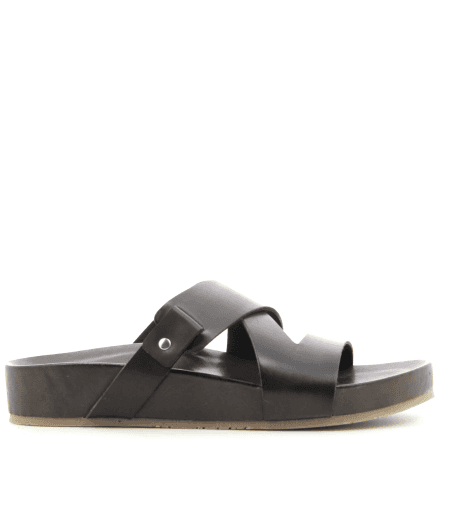 Sandales en cuir noir IBBY - Garrice Collection
